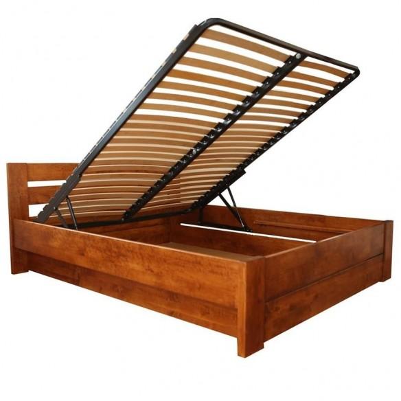 Łóżko olchowe z pojemnikiem Ekodom Lulea Plus